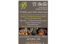 Réouverture de l'institut de beauté Ti Belle à Chastre-Villeroux debut 2017