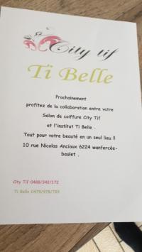 Changement d'adresse de l'institut de beauté Ti belle à Wanfercée-Baulet Fleurus